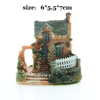 Costbuys  Artificial Mini Micro House Resin Crafts Fairy Garden Decoration Home Garden Decoration Accessories - 03 / 6x5x7cm
