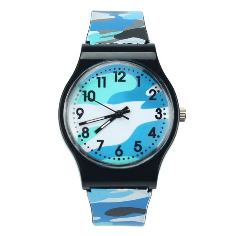 Costbuys  Children Students Watch Children Watch Quartz Wristwatch For Girls Boys Best Gift - Blue