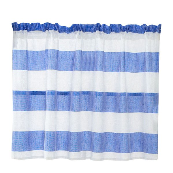 Costbuys  Curtain living room window Valance Curtains Extra Wide and Short Window Treatment Kitchen Living Bathroom &s - Blue /