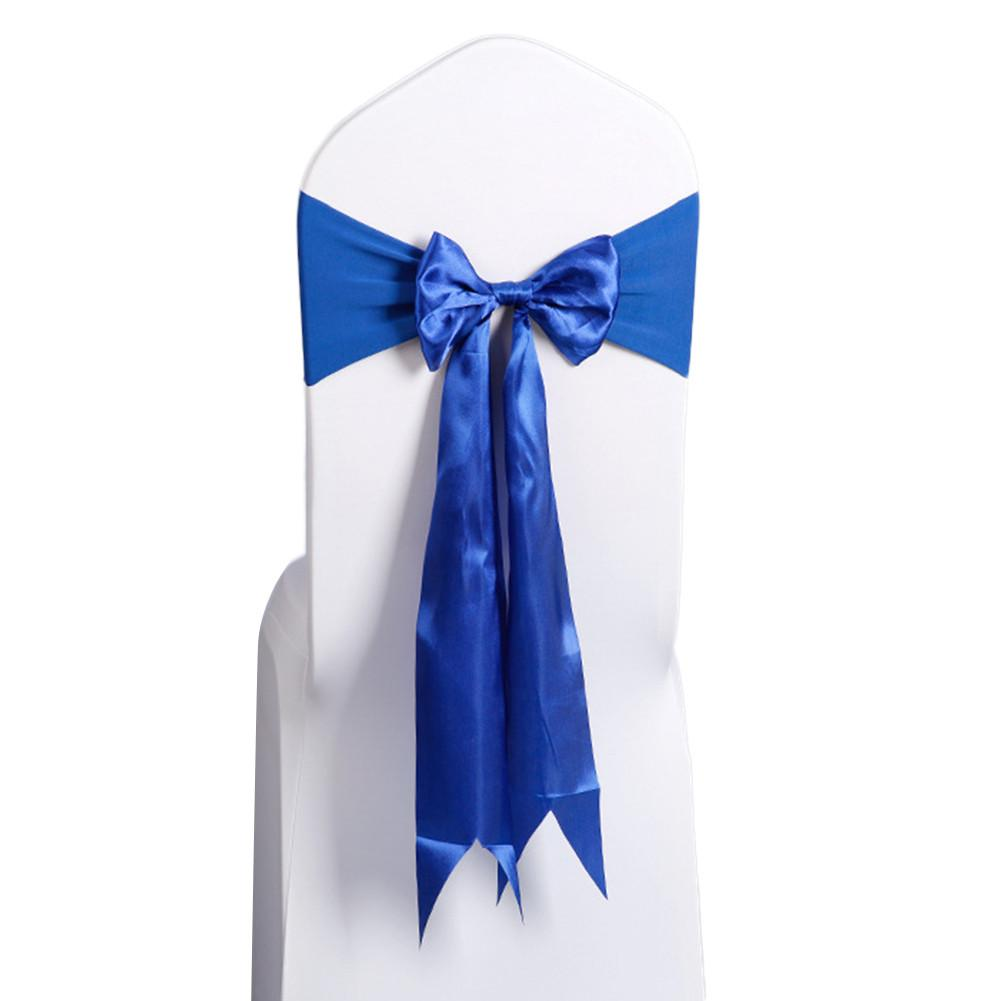 Costbuys  10pcs/Champagne Wedding Decoration Chair Satin Sashes Colorful Satin Chair Sashes Bow Tie for Hotel Banquet Chair - Sa