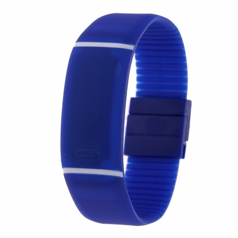 Costbuys  LED watch Women Men hand ring Sports Watches Fashion Touch Screen Digital watches For Boy Girl Silicone - Blue