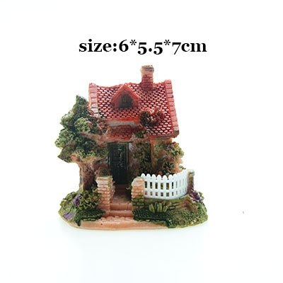 Costbuys  Artificial Mini Micro House Resin Crafts Fairy Garden Decoration Home Garden Decoration Accessories - 04 / 6x5x7cm