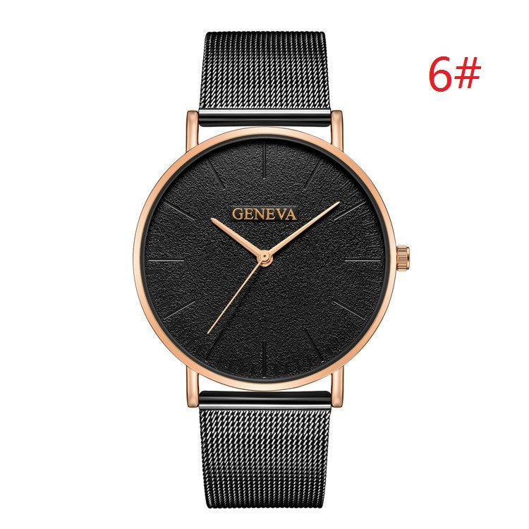 Costbuys  Women's Watch Ladies Watches For Women Rose Gold Watch Women Simple Bracelet Montre Femme - black 4 / China