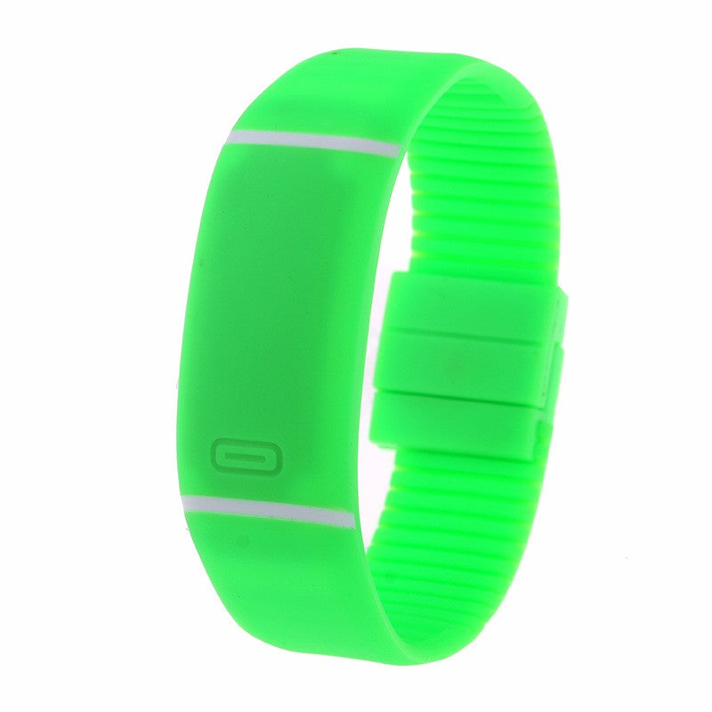 Costbuys  LED watch Women Men hand ring Sports Watches Fashion Touch Screen Digital watches For Boy Girl Silicone - Green