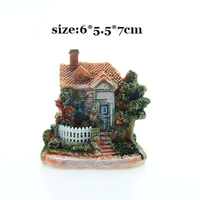 Costbuys  Artificial Mini Micro House Resin Crafts Fairy Garden Decoration Home Garden Decoration Accessories - 05 / 6x5x7cm