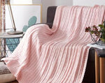 100% cotton Twist style handmade soft knit blanket bed Plaids Pink White Blue Gray knit sofa throw blanket 120*180cm