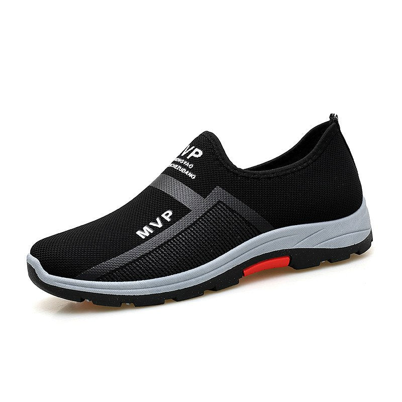 Costbuys  Mens Shoes Casual LuxuryMen Casual Shoes Loafers Men Sneakers Mesh Driving Boat Shoes Men Slip on Sneakers - Black / 1