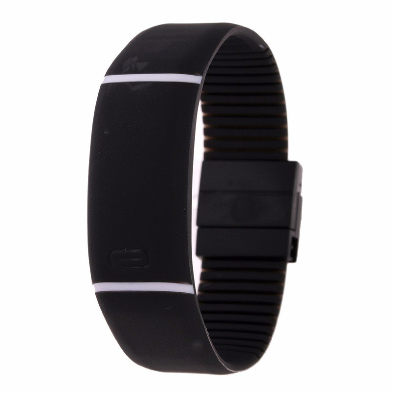 Costbuys  LED watch Women Men hand ring Sports Watches Fashion Touch Screen Digital watches For Boy Girl Silicone - Black
