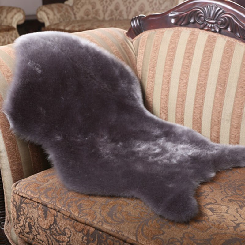 Costbuys  Soft Home Carpet Sheepskin Chair Cover Rugs Artificial Wool Plain Fluffy Rugs Bedroom Blanket Mat For Kids Living Room