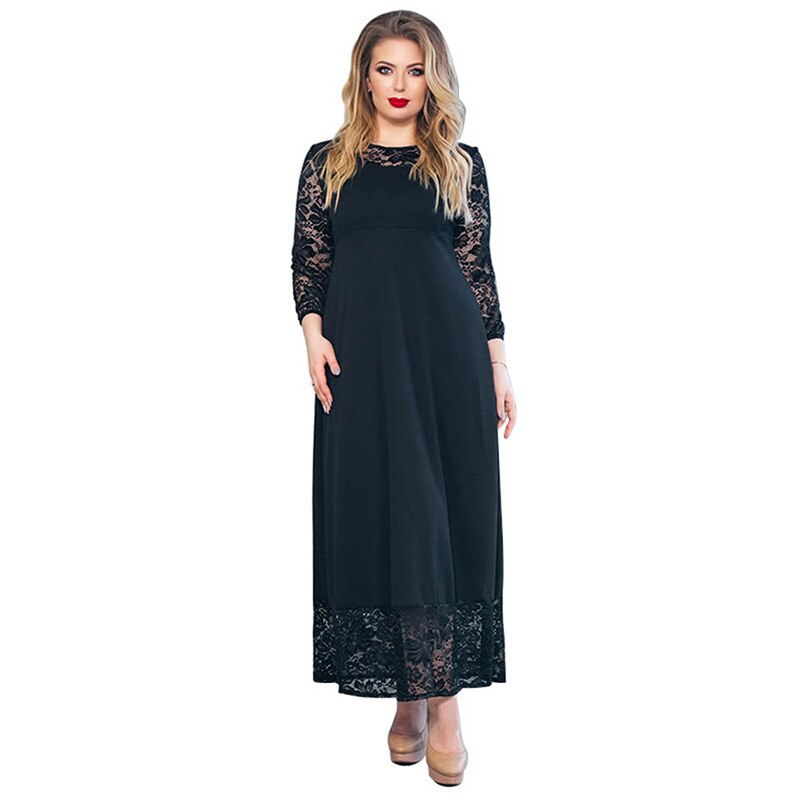 Dresses Woman Party Night Maxi Long Plus Size Lace Dresses Women Party Night