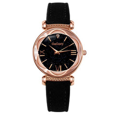 Fashion Leather Watches Women ladies dress Personality romantic quartz wristwatch
