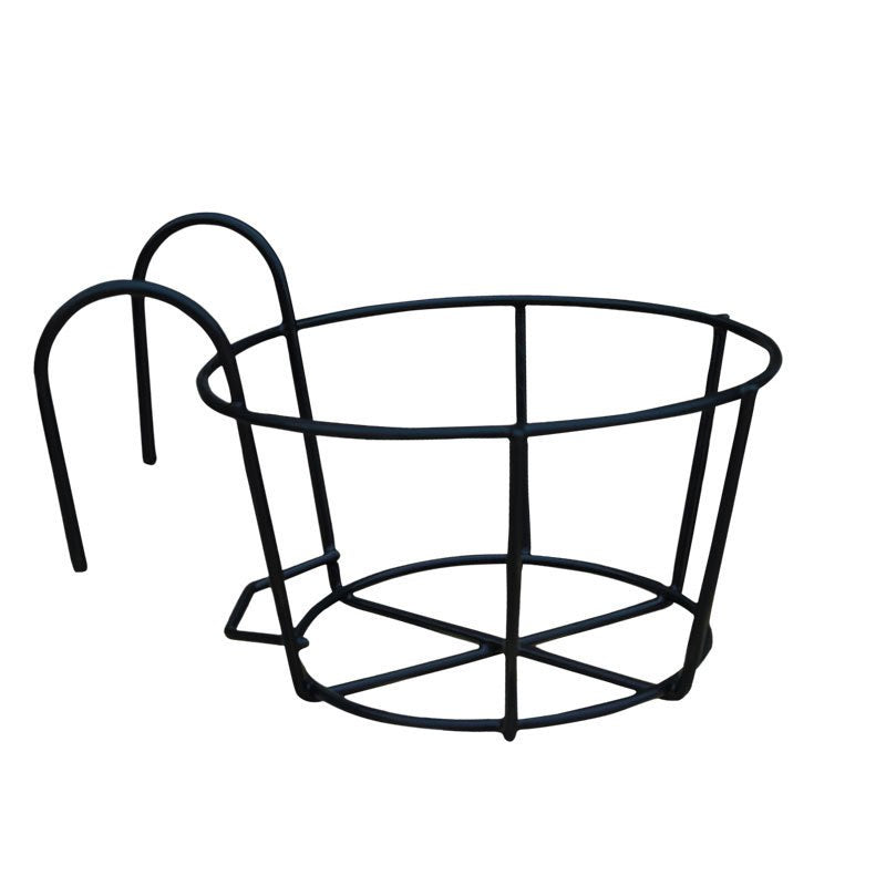 Costbuys  Wrought Iron Flower Racks European-style Round Balcony Outdoor Wall-mounted Flower Rack Potted Plants Garden Supplies