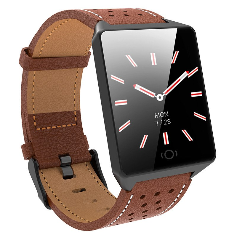 Costbuys  Bluetooth Smart Watches For Men Waterproof Sports Camera Call Leather Fitness Smart Watch Men Women For iPhone Android
