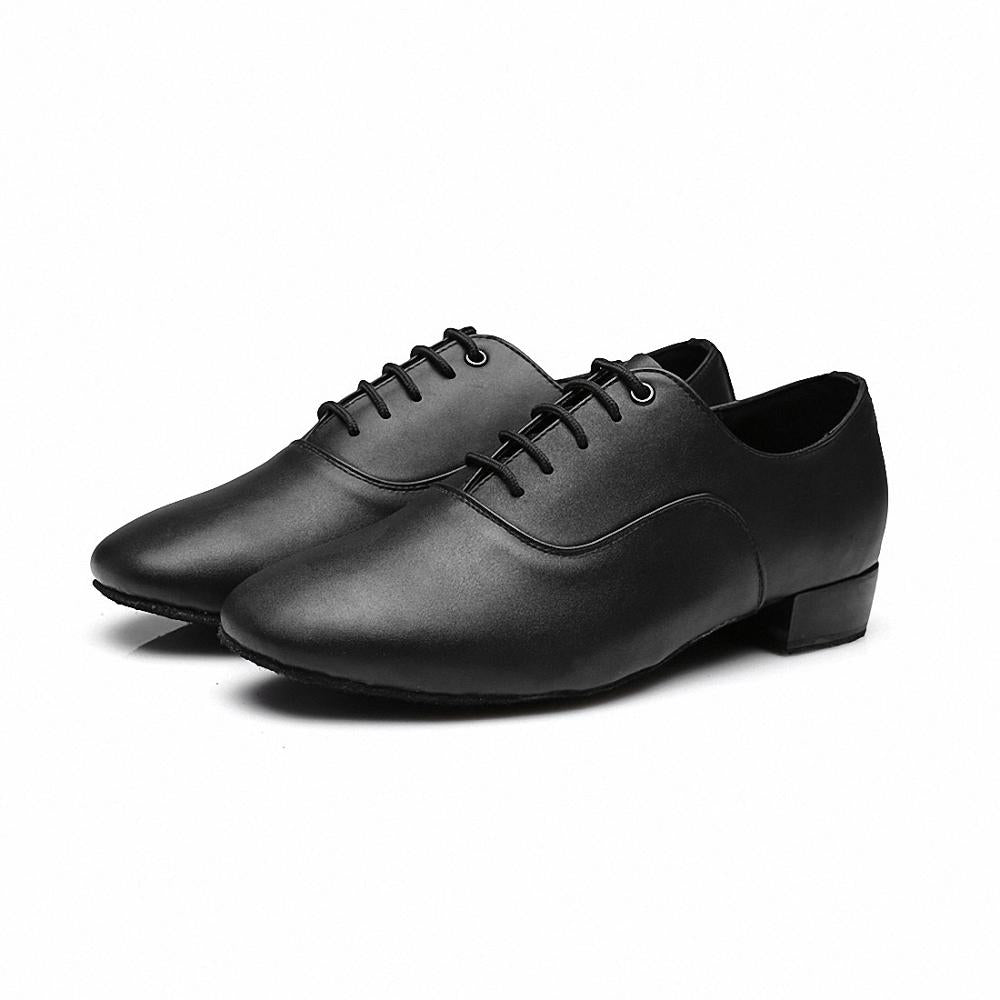 Dance Shoes Men Ballroom Tango Latin Waltz Dance Shoes Soft Bottom Shockproof Comfort Glossy and Dark Side Uppers