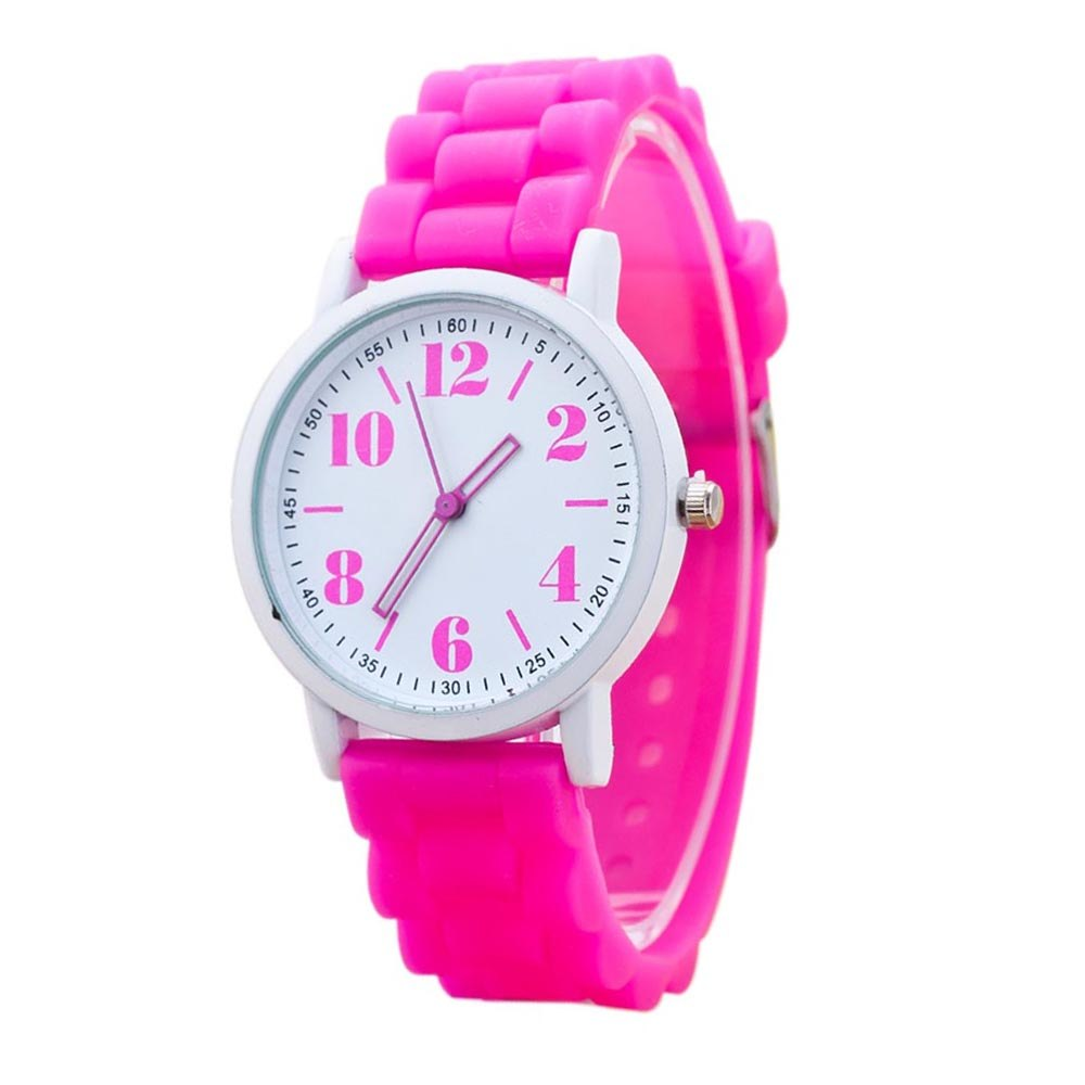 Costbuys  Casual Watch watch 7color men women Analog wristwatches Sports Watches Silicone watches - Hot pink