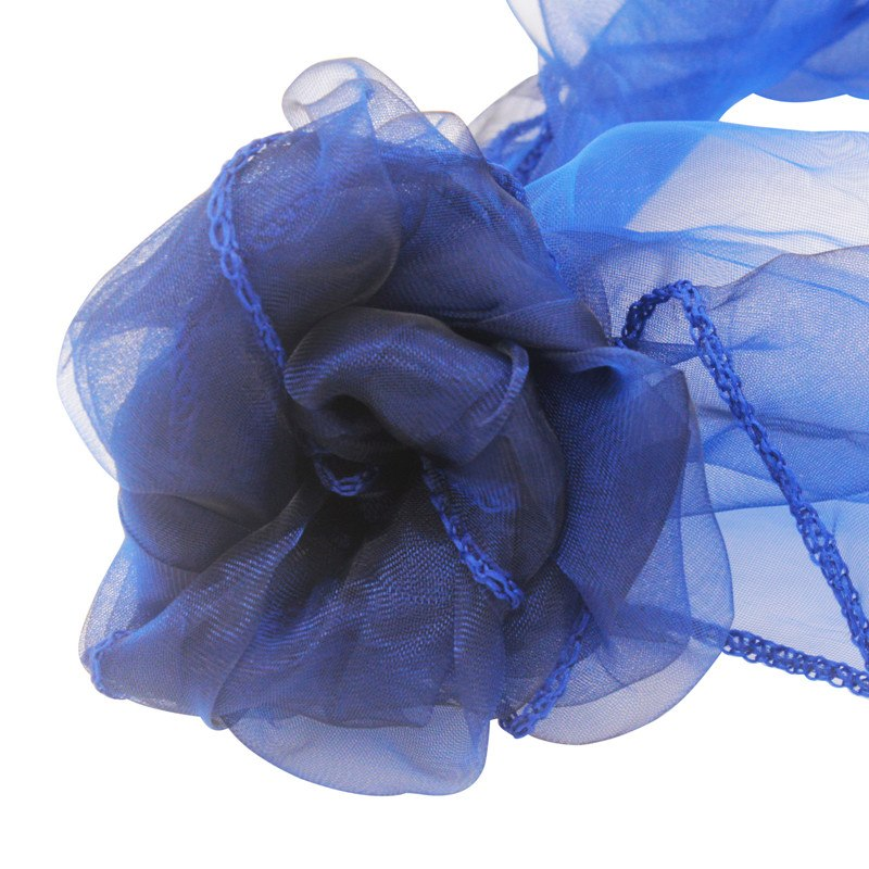 Costbuys  100pcs 18x275cm Organza Chair Sashes Chair Cover Bows Wedding Favors Party Home Decorations - navy blue