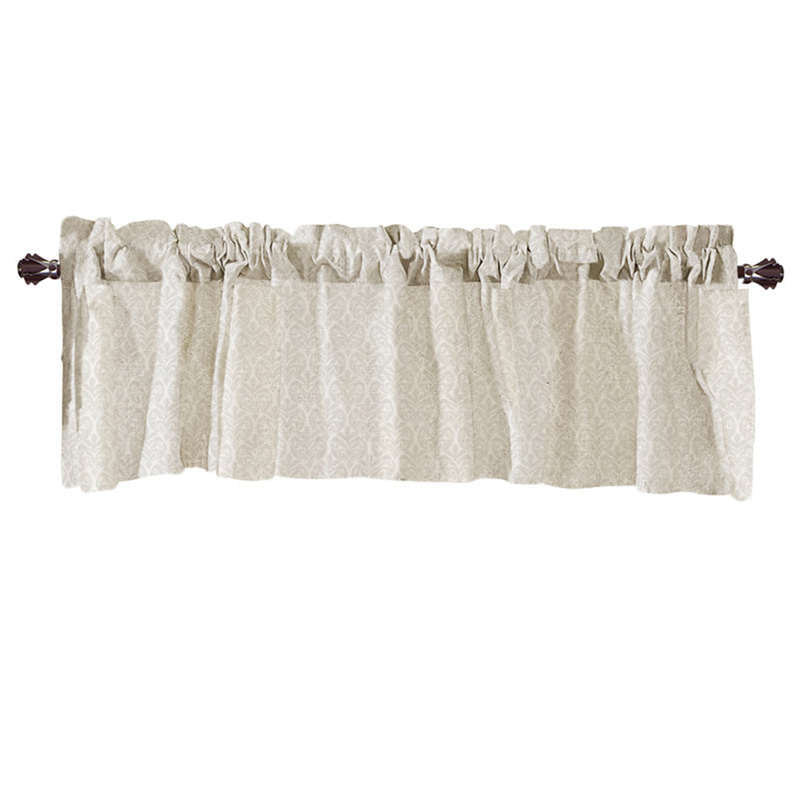 Costbuys  Valance Curtains Extra Wide and Short Window Treatment Kitchen Living Covering Valance Curtains for living room - D /