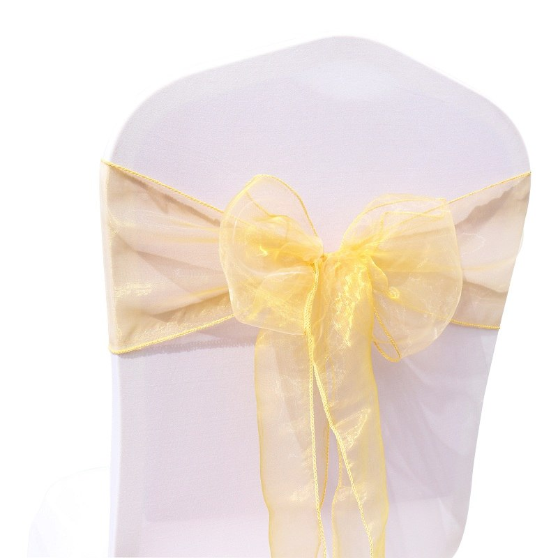Costbuys  18x275cm Organza Fabric Ribbon Chair Sashes For Wedding Banquet Event Birthday Party Decoration Home Textile Chair Cov
