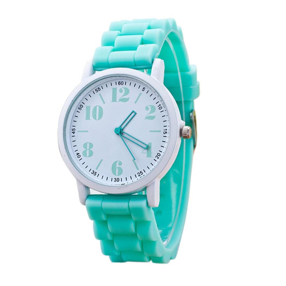 Costbuys  Casual Watch watch 7color men women Analog wristwatches Sports Watches Silicone watches - MInt Green