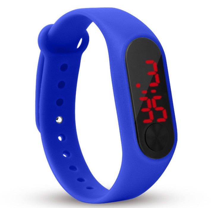 Costbuys  Fashion LED Watch Boys Girls Kids Children Students Sport Digital Watch Touch Screen Silicone Running Watches Creative