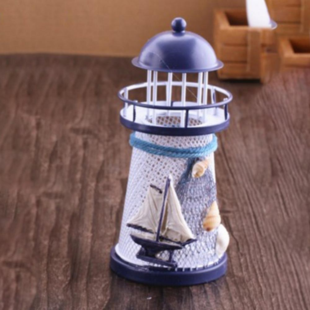 Costbuys  Style Handicraft Decoration With Lamp Marine home decoration accessories - Light Grey