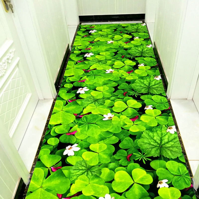 Costbuys  3D Door Mat Plant Carpet Printing Hallway Carpets Bedroom Living Room Tea Table Rugs Kitchen Bathroom Anti-skid Mats H