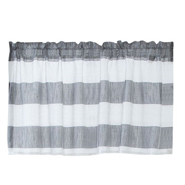 Costbuys  Curtain living room window Valance Curtains Extra Wide and Short Window Treatment Kitchen Living Bathroom &s - Gray /