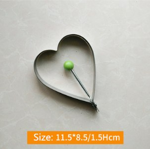Costbuys  1Pcs Stainless Steel Fried Egg Mold Pancake Kitchen Accessories Kitchen Gadgets Fruit and Vegetable Shape Decoration C