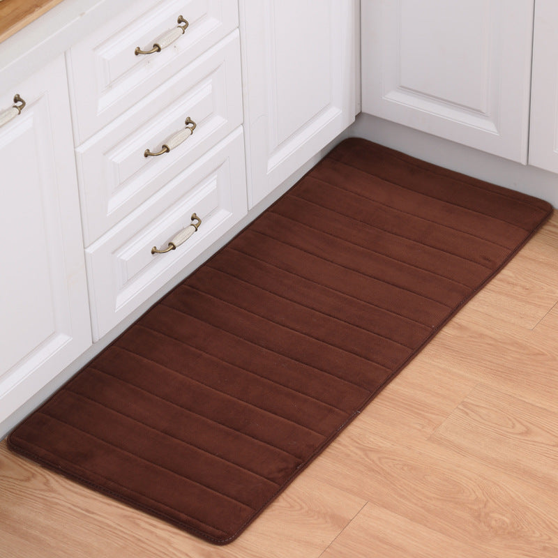 Costbuys  Bathroom Carpets for Living Room Bedroom Home Bathroom Anti-Slip Mat Water Absorption Doormat Kitchen Rugs - coffee /