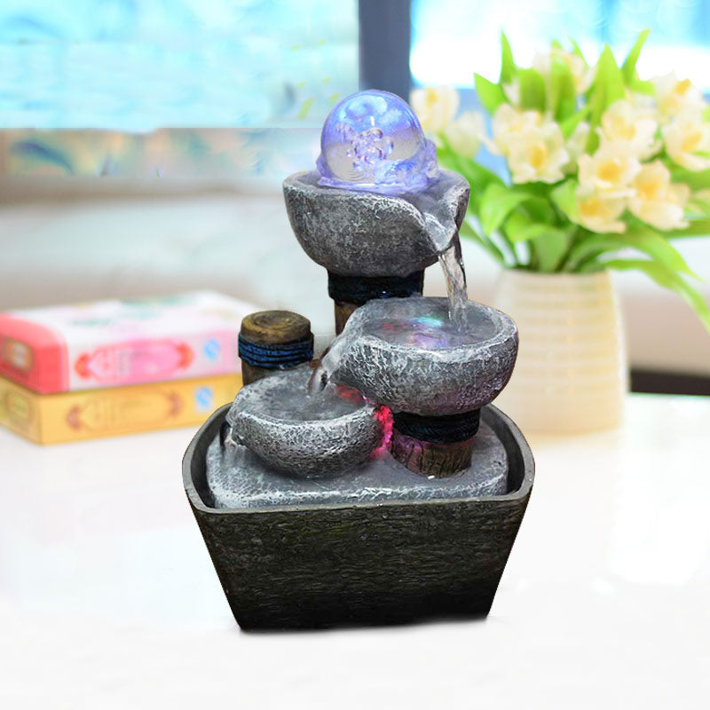 Costbuys  Water Fountain Figurine Indoor Water Fountains Desktop Resin Fontaine Interieur Office Home Decoration Accessories - b