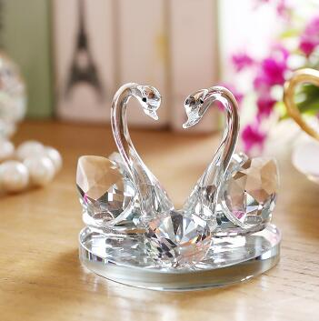 Costbuys  1pcs lead-free glass high heel glass swan home decor accessory wedding party decor swan&heel wedding gifts - white swa