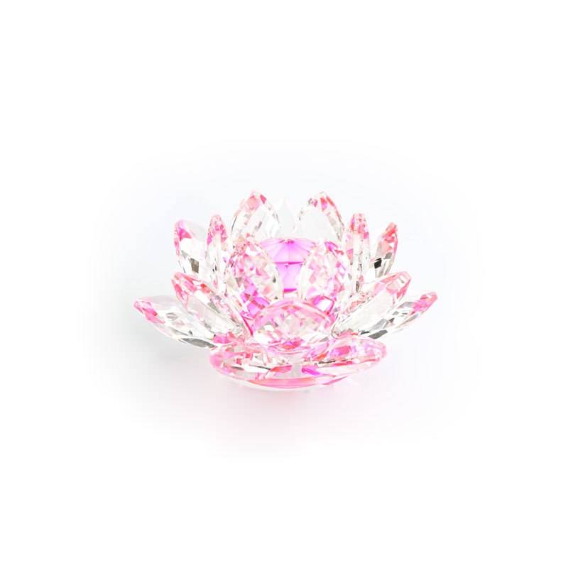 Costbuys  80mm Crystal Lotus Flower home decoration accessories glass Crafts Ornaments Figurines Home Wedding Party Decor Gifts
