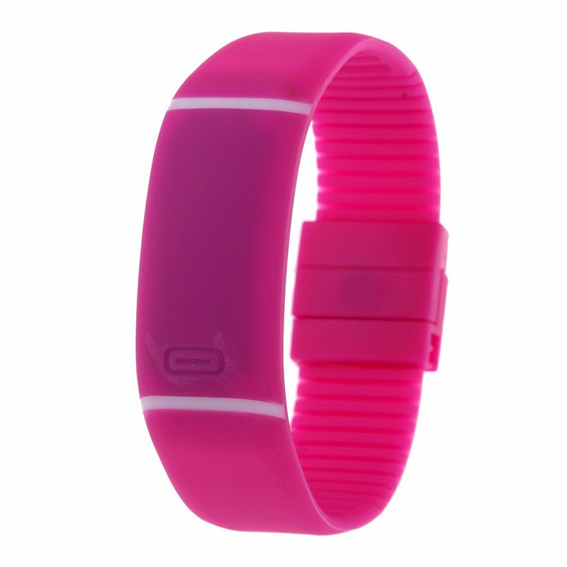 Costbuys  LED watch Women Men hand ring Sports Watches Fashion Touch Screen Digital watches For Boy Girl Silicone - Rose