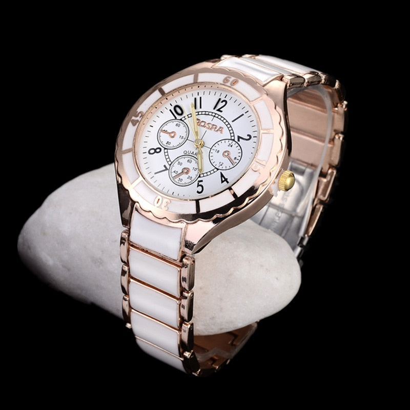 Costbuys  Rose Gold Watch Women Watches Luxury Women's Watches Fashion Bracelet Ladies Watch Clock - rose gold