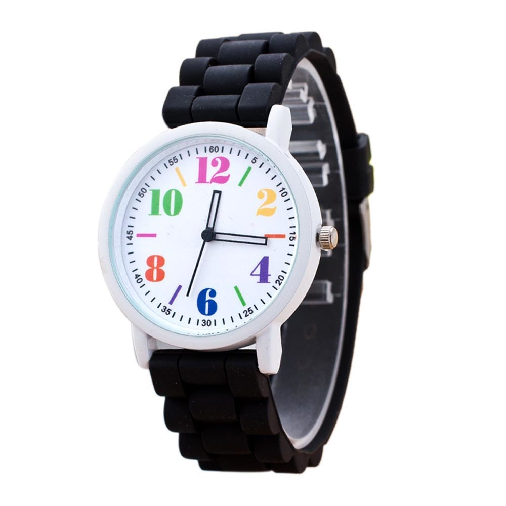 Costbuys  Casual Watch watch 7color men women Analog wristwatches Sports Watches Silicone watches - Black
