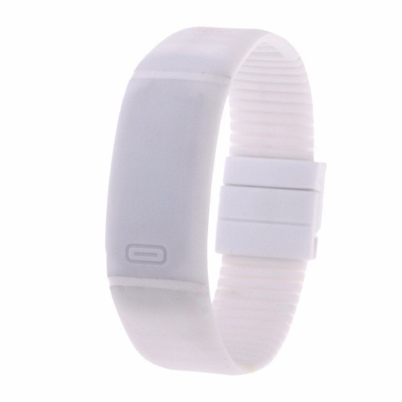 Costbuys  LED watch Women Men hand ring Sports Watches Fashion Touch Screen Digital watches For Boy Girl Silicone - White