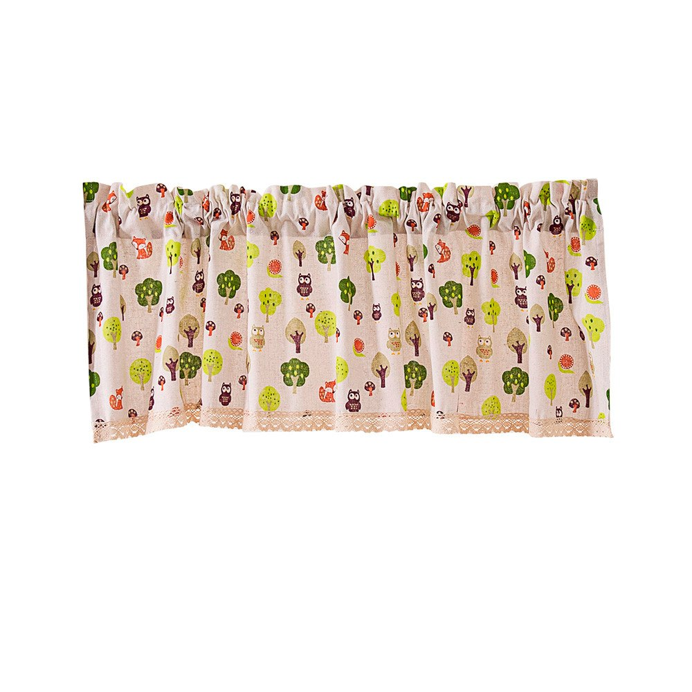 Costbuys  TOP Valance Curtains Extra Wide and Short Window Treatment Kitchen Living Bathroom - A / China