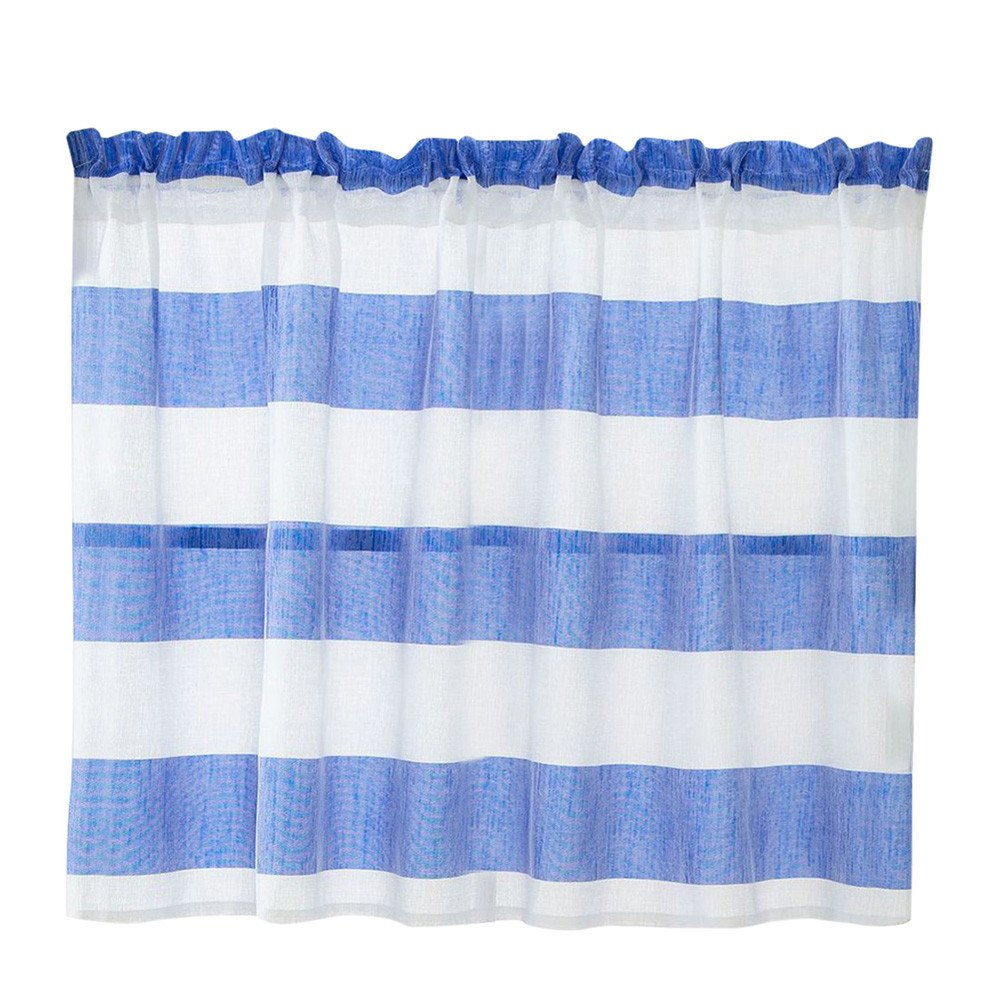 Costbuys  TOP Valance Curtains Extra Wide and Short Window Treatment Kitchen Living Bathroom 11.7 - BU / 74 x 90 cm