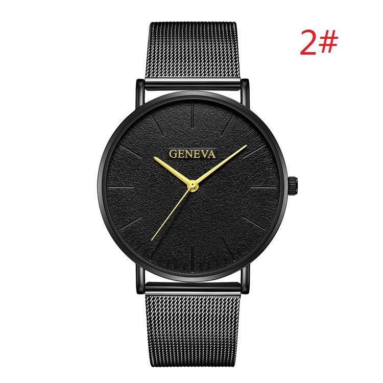 Costbuys  Women's Watch Ladies Watches For Women Rose Gold Watch Women Simple Bracelet Montre Femme - black 2 / China