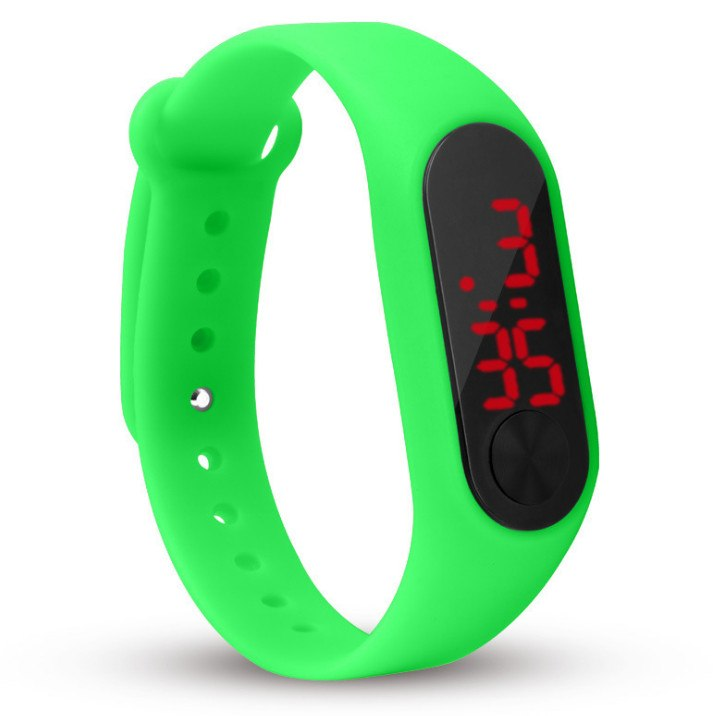 Costbuys  Men Women Casual Sports Bracelet Watches White LED Electronic Digital Candy Color Silicone Wrist Watch for Children Ki
