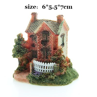Costbuys  Artificial Mini Micro House Resin Crafts Fairy Garden Decoration Home Garden Decoration Accessories - 06 / 6x5x7cm