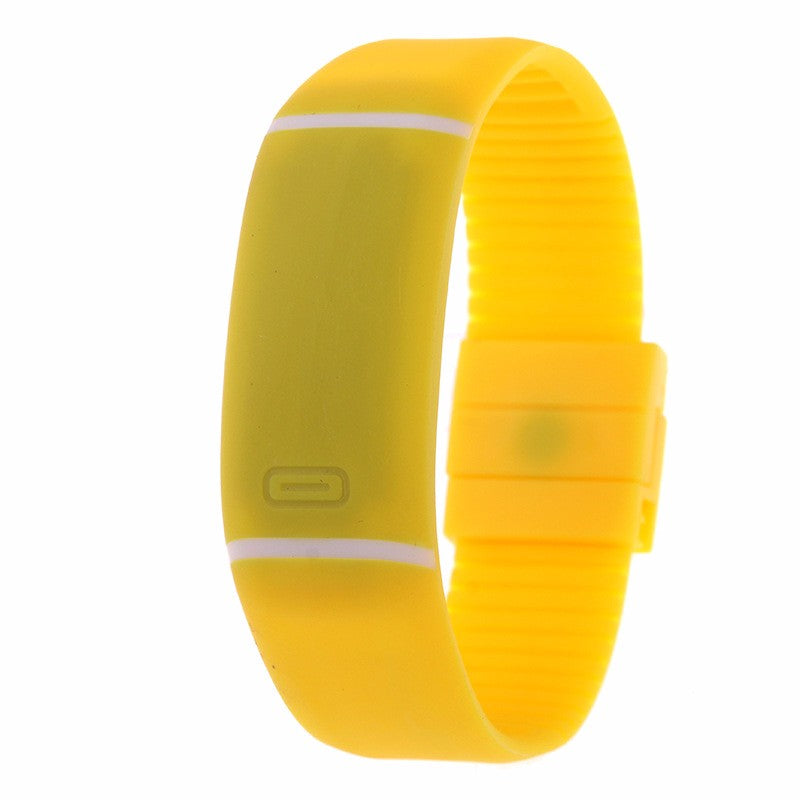 Costbuys  LED watch Women Men hand ring Sports Watches Fashion Touch Screen Digital watches For Boy Girl Silicone - Yellow