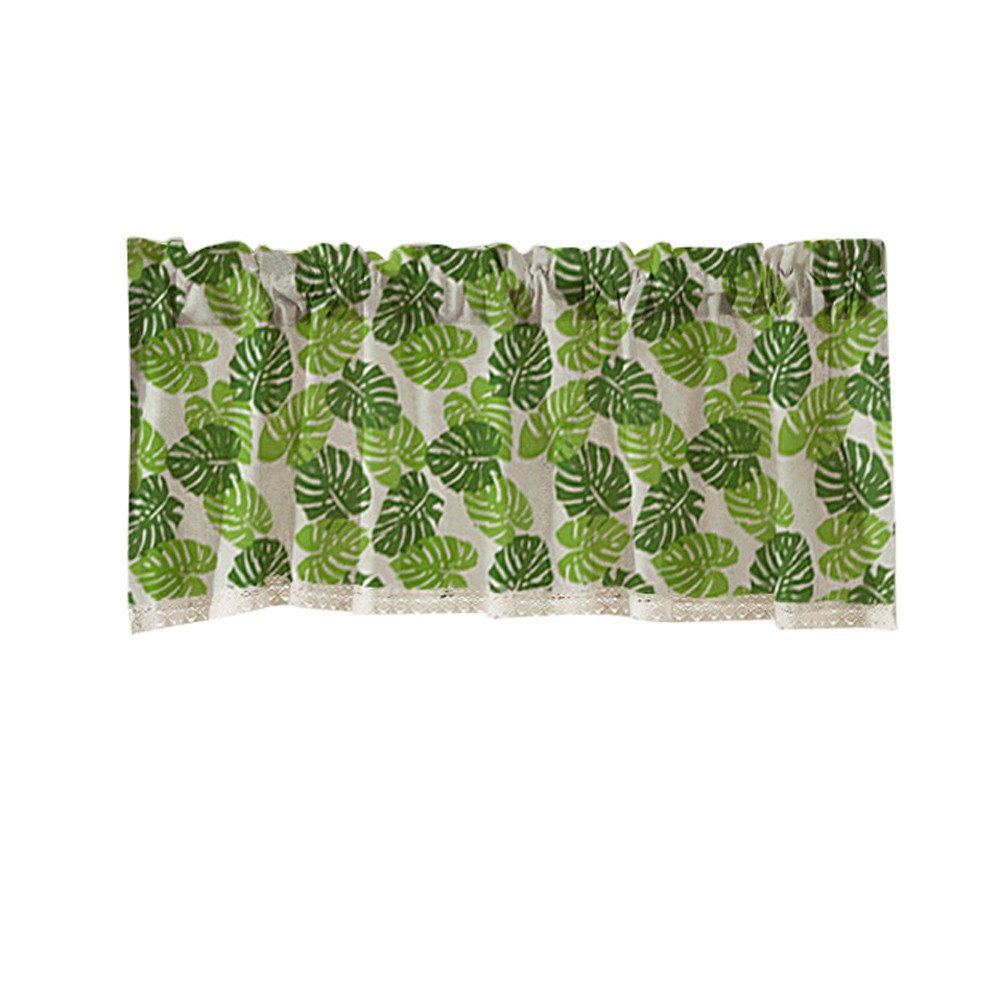 Costbuys  TOP Valance Curtains Extra Wide and Short Window Treatment Kitchen Living Bathroom - B / China
