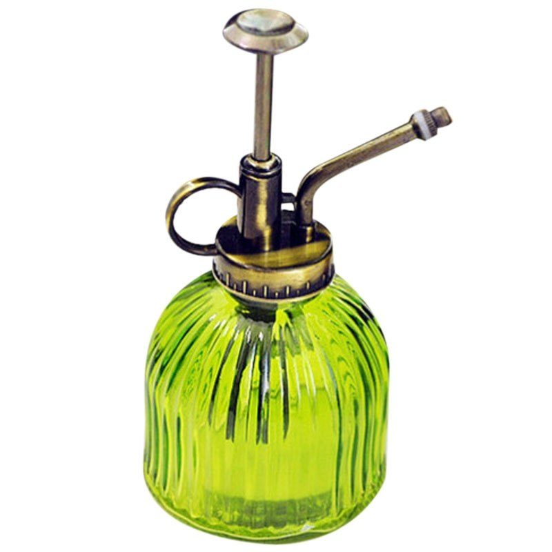 Costbuys  Tenozek Colored Stripes Glass Watering Can Plant Waterer Garden Supply - green