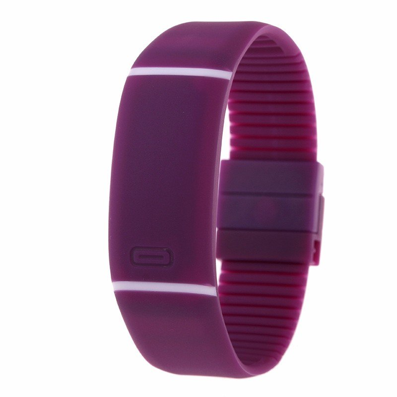 Costbuys  LED watch Women Men hand ring Sports Watches Fashion Touch Screen Digital watches For Boy Girl Silicone - Purple