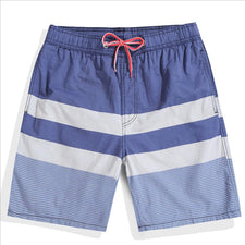 17 color Board shorts men swimwear striped beach surf bermudas swimming trunks bathing suits running quick dry swimsuits man