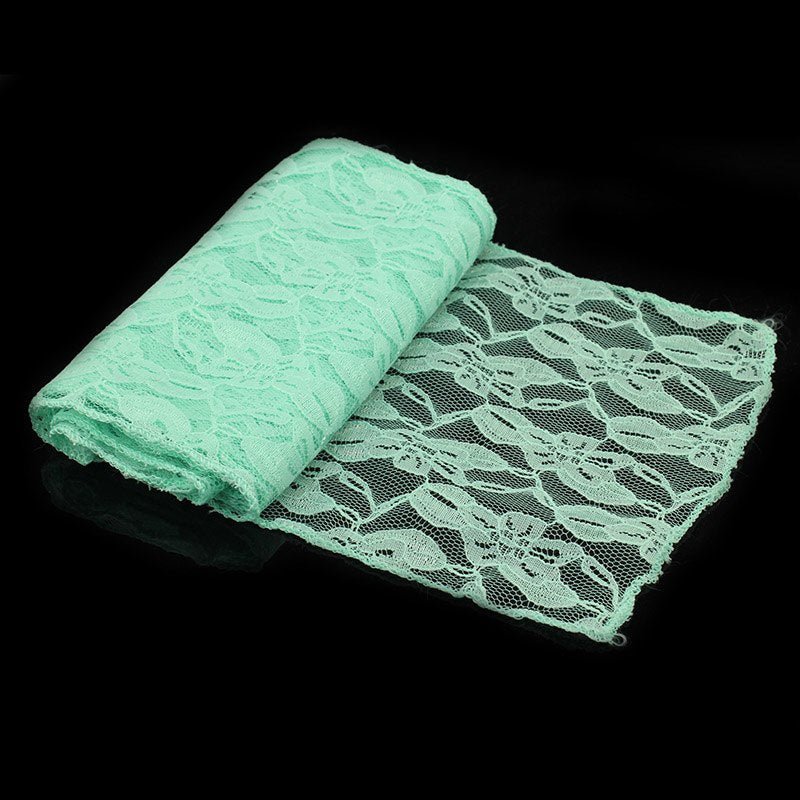 Costbuys  18*275cm white green black Lace Chair Sash For Baby Shower Wedding Party Chair Decor DIY Home Textile Chair cover belt
