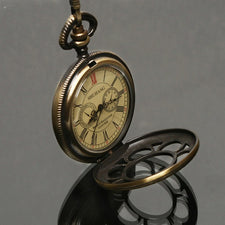 1856s Antique Style Bronze Tone Case Pocket Watch NR