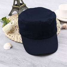 1PC Classic Solid Plain Vintage Army Hat Unisex Women Men Cadet Patrol Cap  Adjustable Baseball Caps ed49e64a5e87