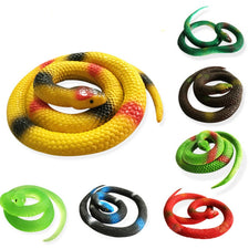 1PC Novelty Halloween Gift Tricky Funny Spoof Toys Simulation Soft Scary Fake Snake Horror Toy For Party Event